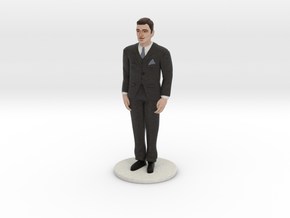 Light Brunette Groom (v.1) in Full Color Sandstone