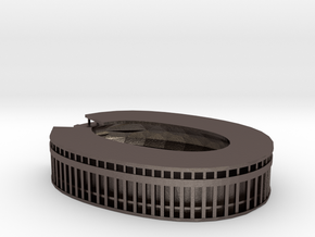 Olympic Stadium Berlin in Polished Bronzed Silver Steel