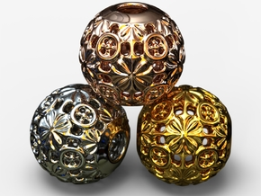 PA Ball V1 D16Se49 in 18k Gold Plated Brass