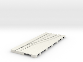 P-65stp-road-right-point-145r-75-pl-1b in White Natural Versatile Plastic