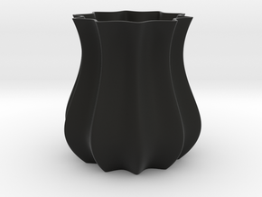 Vase in Black Natural Versatile Plastic