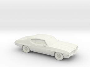 1/87 1968-72 Pontiac Le Mans in White Natural Versatile Plastic