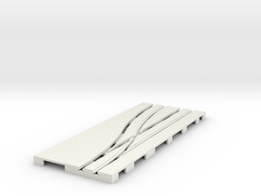 P-65stp-road-left-point-145r-75-pl-1b in White Natural Versatile Plastic