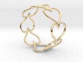 Size 7 Love Heart D in 14K Yellow Gold