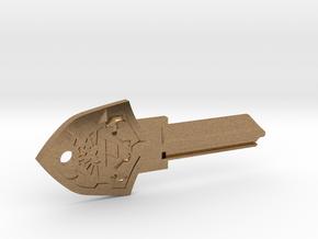 Zelda Shield House Key Blank - KW1/66 in Natural Brass