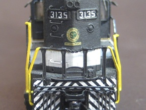 N Scale SD45 High Hood for SOU units in Smooth Fine Detail Plastic