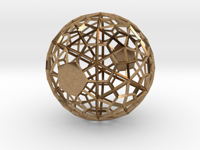 Wireframe Sphere in Natural Brass