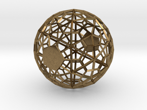 Wireframe Sphere in Natural Bronze