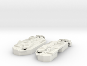 Blocky Glider Leg Extension V2 in White Natural Versatile Plastic