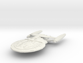 Hood Refit Class BattleShip Small in White Natural Versatile Plastic