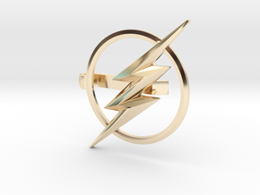 Flash tie clip in 14k Gold Plated