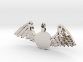 Journeyer-Flying - Key chain in Rhodium Plated Brass