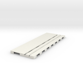P-65stp-straight-road-110-75-pl-1a in White Natural Versatile Plastic
