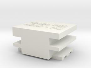 HO-HOn3 Coupler Gauge in White Natural Versatile Plastic