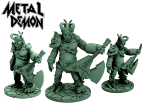 Metal Demon (28mm scale miniature) in White Processed Versatile Plastic