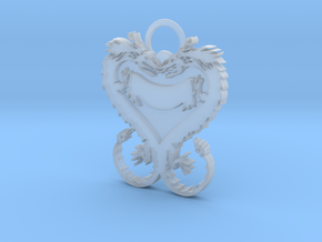 Dragonheart Keychain in Smooth Fine Detail Plastic