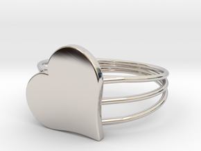 Size 8 Heart For ALL in Platinum