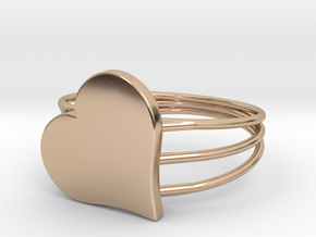 Size 9 Heart For ALL in 14k Rose Gold Plated Brass