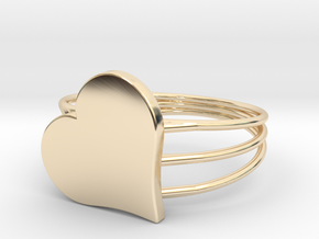Size 11 Heart For ALL in 14K Yellow Gold