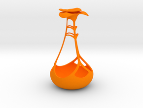 Blooming Holder in Orange Strong & Flexible Polished
