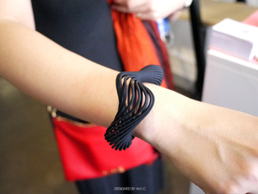 Liquid Tension* Bangle ( Hollow ) in Black Natural Versatile Plastic