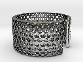 Geotombik Bracelet / Cuff in Polished Silver