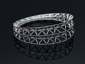 Intricate Framework Bracelet in Polished Silver