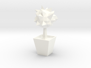 Lowpoly Tree in White Processed Versatile Plastic