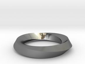 RingSwirl180 in Premium Silver