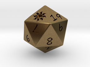 D20 Plains in Natural Bronze: Medium