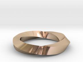 RingSwirl270 in 14k Rose Gold