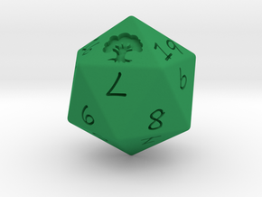 D20 Forest in Green Strong & Flexible Polished: Medium