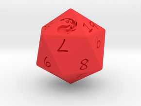 D20 Mountain in Red Strong & Flexible Polished: Medium