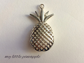 My Little Pineapple in Fine Detail Polished Silver