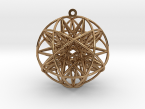 Super Penta Sphere in Polished Brass