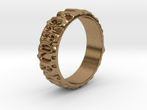 Blurred ABC Ring Size 9.75 in Natural Brass