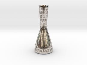VasePROsolidRB T3 U2v6s1e4f6H100 in Rhodium Plated Brass