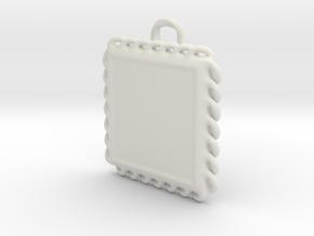 Photo KeyChain in White Natural Versatile Plastic