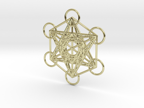 Metatrons cube custom  in 18k Gold Plated Brass