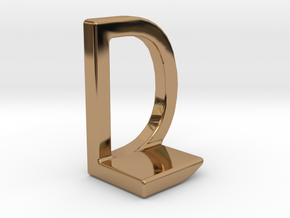 Two way letter pendant - DL LD in Polished Brass