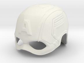Captain America Winter Soldier Helmet in White Natural Versatile Plastic