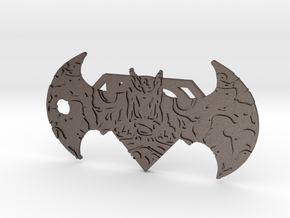 Super-Bat Keychain in Polished Bronzed Silver Steel