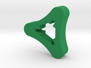 SMA Knob in Green Processed Versatile Plastic