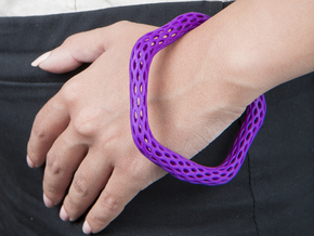 Irregular Bracelet (Size M) in Purple Processed Versatile Plastic