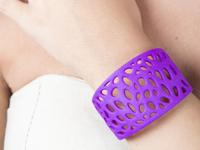 Cells Cuff One Layer (Size M) in Purple Strong & Flexible Polished