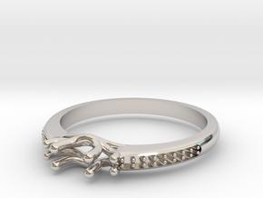Past, Present, Future Engagement Ring in Platinum