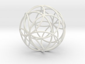 3D 200mm Orb of Life (3D Seed of Life) in White Natural Versatile Plastic