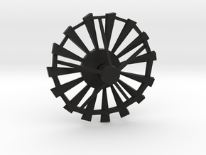 Windmill Blades Pendant in Black Natural Versatile Plastic