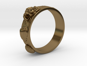 Sea Shell Ring 1 - US-Size 6 1/2 (16.92 mm) in Polished Bronze