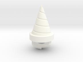 Drill Key Metal in White Processed Versatile Plastic